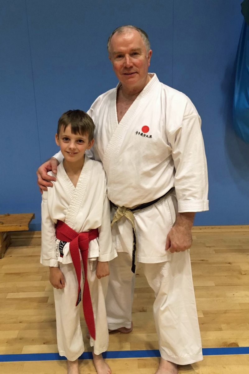 <p>William Blackburn with Sensei Frank Brennan</p>