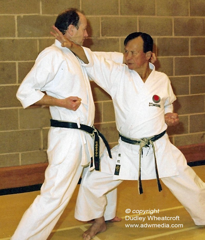 <p>Sensei Enoeda with Sensei Dudley Wheatcroft, Satori Shotokan, Chesterfield</p>