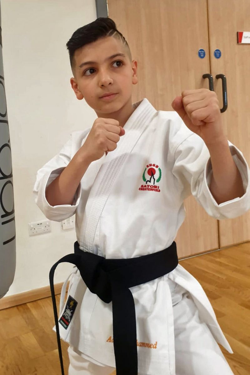 <p>Adam Mohammed, Shodan Black Belt. Passed 16/02/2020</p>