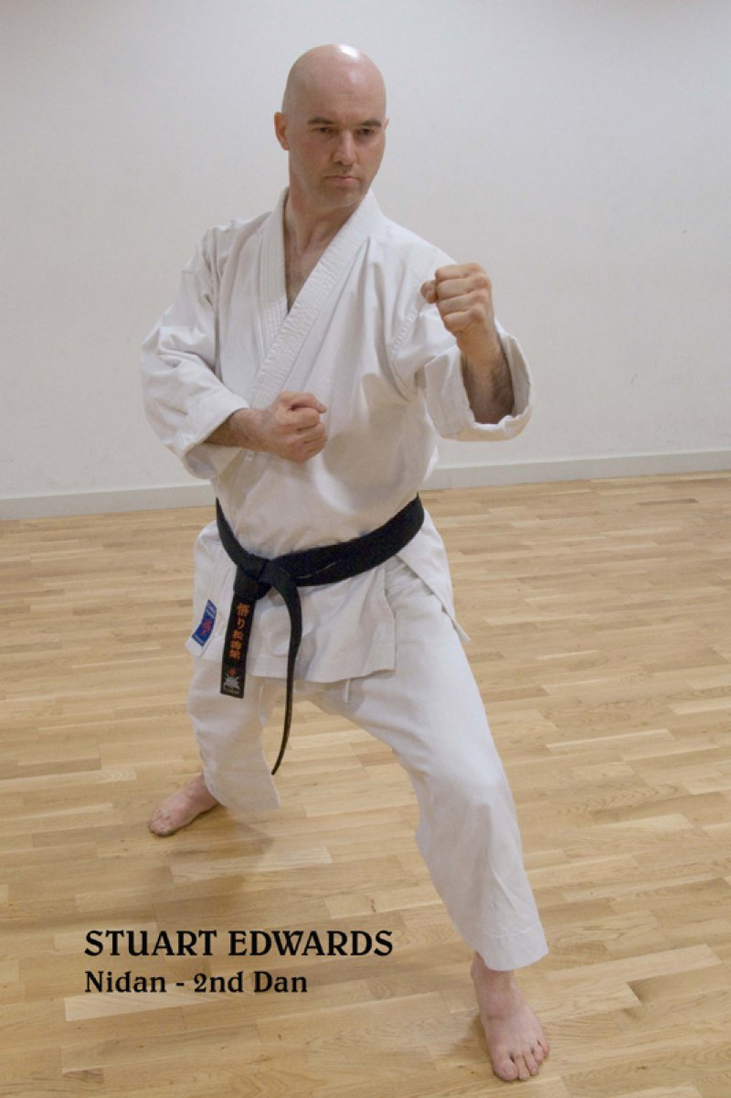 <p>Stuart Edwards, 2nd Dan (Nidan).</p>