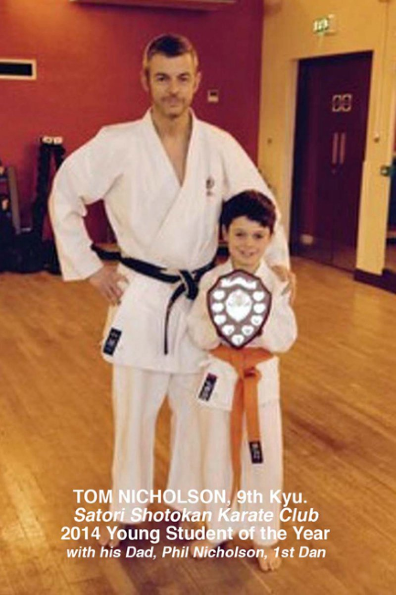 <p>Sensei Philip Nicholson and son Tom.</p>