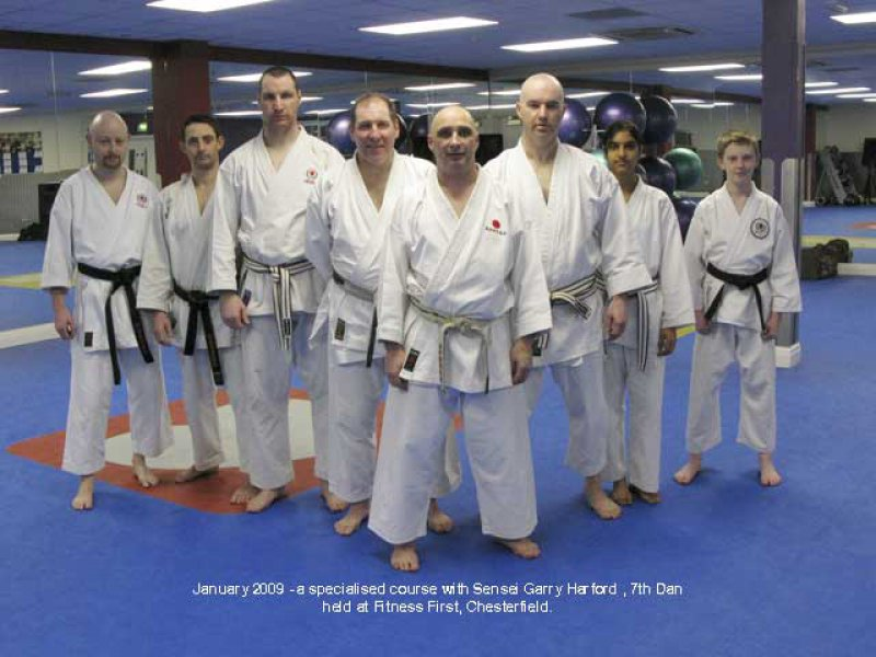 <p>Sensei Gary Harford with Satori members.</p>