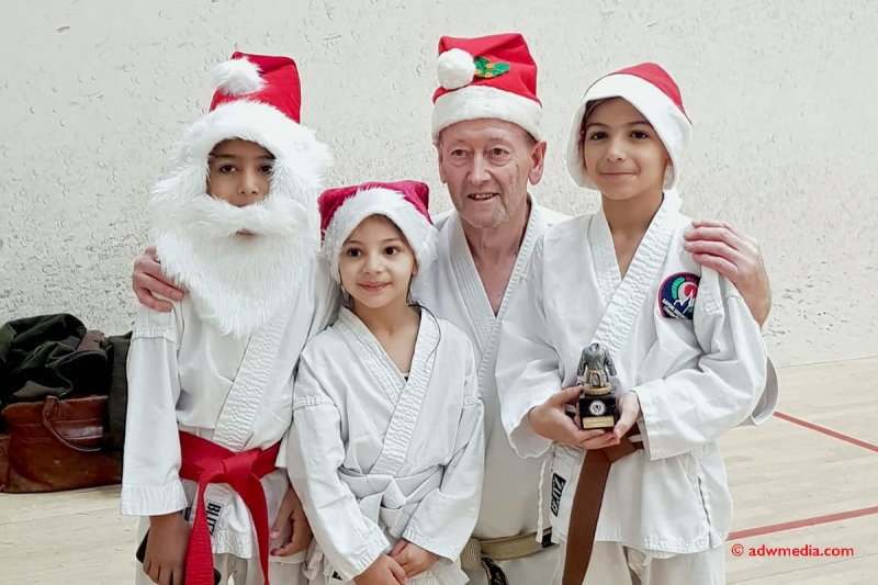 <p>Brothers and Sister, Hewa, Hany & Adam with Sensei Dudley Wheatcroft</p>
