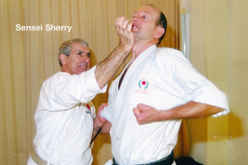 <p>Sensei Andy Sherry with Sensei Dudley Wheatcroft</p>