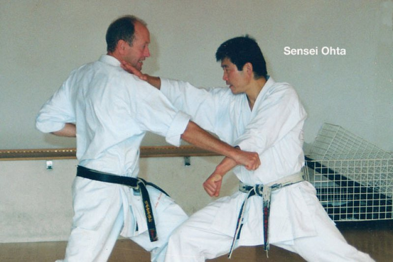 <p>Sensei Ohta with Sensei Dudley Wheatcroft</p>